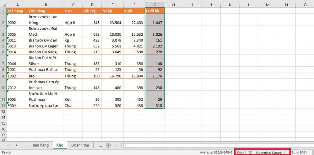 Mách bạn mẹo xem thống kê số liệu cực nhanh trong Microsoft Excel