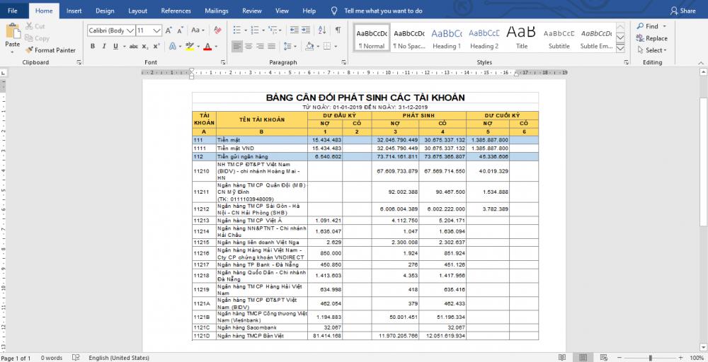 Cách sao chép bảng từ Excel sang Word vẫn giữ nguyên định dạng 3