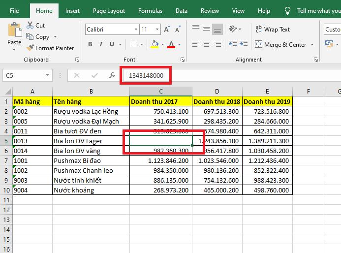 Mách bạn cách ẩn nhanh dữ liệu trong Excel