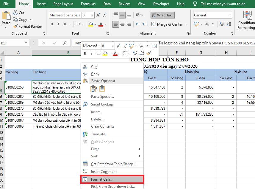 Hướng dẫn cách căn lề hai bên đều nhau trong ô Excel