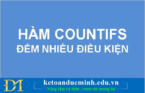 HÀM COUNTIF