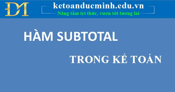 HÀM SUBTOTAL 1