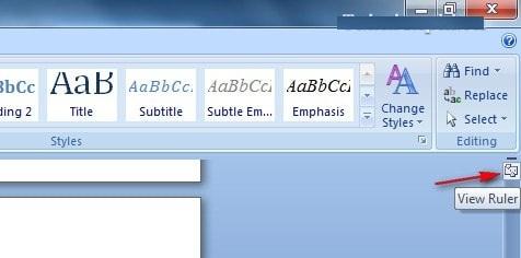 Hô biến thanh Ruler xuất hiện trong văn bản Word 2007 1