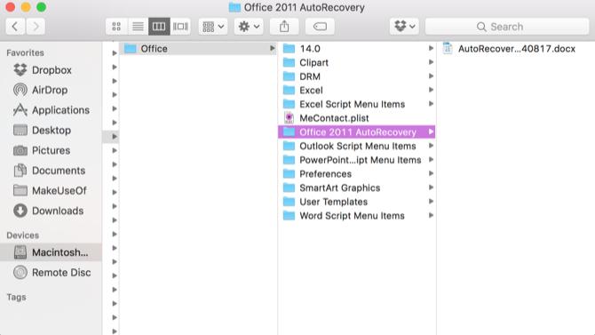 Khôi phục lại file Excel chưa lưu trên mac OS