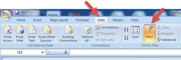 Cách lọc dữ liệu tự động 2