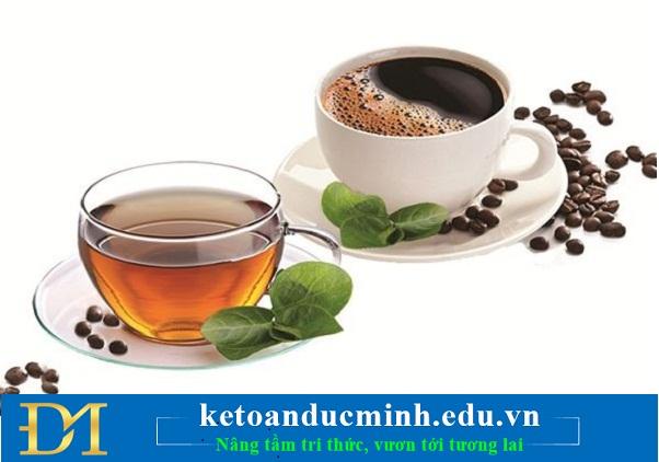 Uống cà phê và trà thay cho nước có gas và đồ uống có cồn