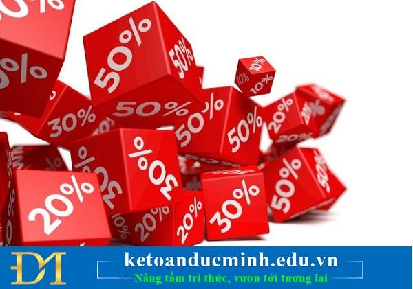 Các khoản giảm trừ doanh thu theo Thông tư 133
