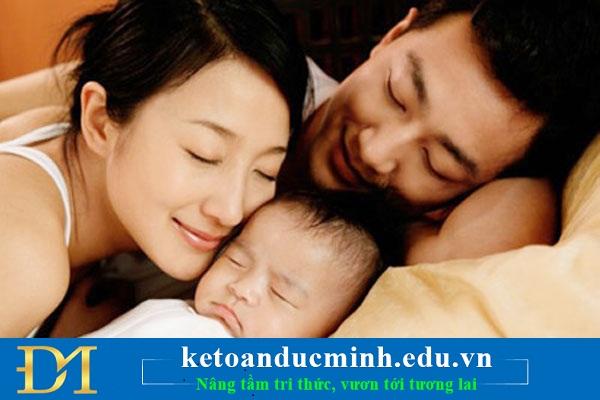 Chế độ thai sản dành cho nam giới đóng bảo hiểm xã hội có vợ sinh con
