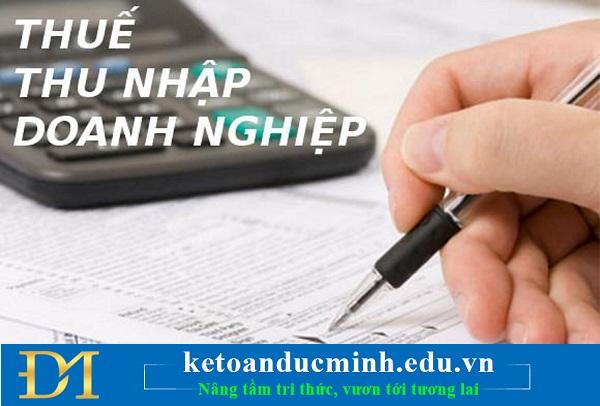 Khai thuế TNDN