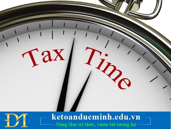 Xử phạt vi phạm hành chính đối với hành vi nộp hồ sơ quyết toán thuế thu nhập doanh nghiệp quá thời hạn quy định nhu sau