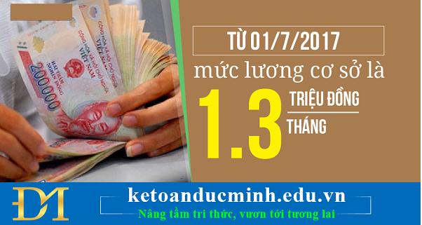 Tăng mức lương cơ sở từ 1.210.000 đồng lên 1.300.000 đồng