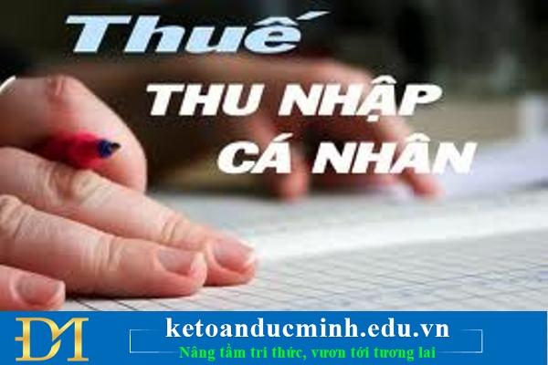 Thuế thu nhập cá nhân tncn online
