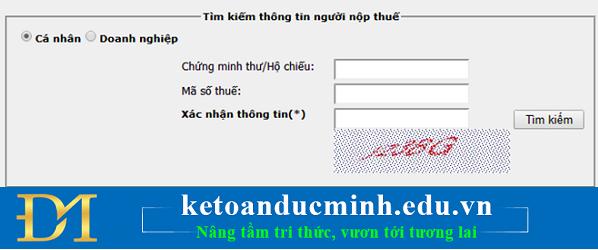 cách truy dò tìm check kiểm tra cứu mst tncn online bằng số chứng minh thư cmnd
