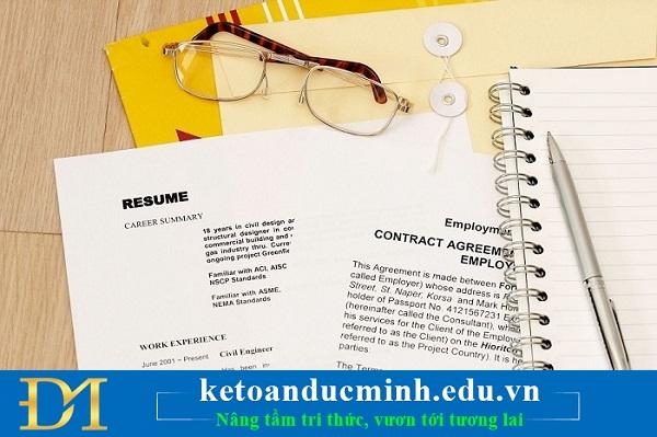Chuẩn bị hồ sơ nghề nghiệp ứng tuyển vào vị trí thực tập
