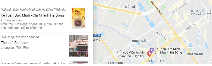 Bản đồ kế toán Đức Minh cơ sở Hà Đông Google Map