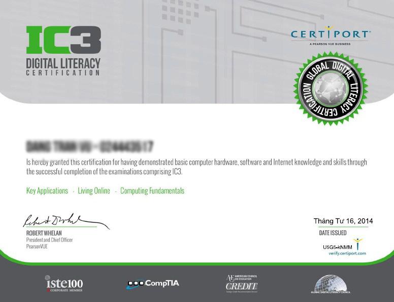 Chứng chỉ IC3 được coi là yêu cầu bắt buộc để thi tuyển công chức