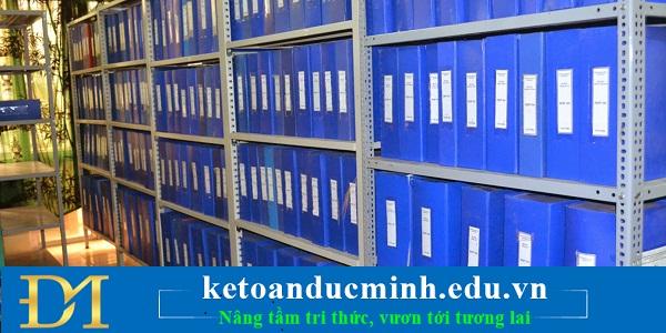 Nơi lưu trữ tài liệu kế toán đối với từng đơn vị