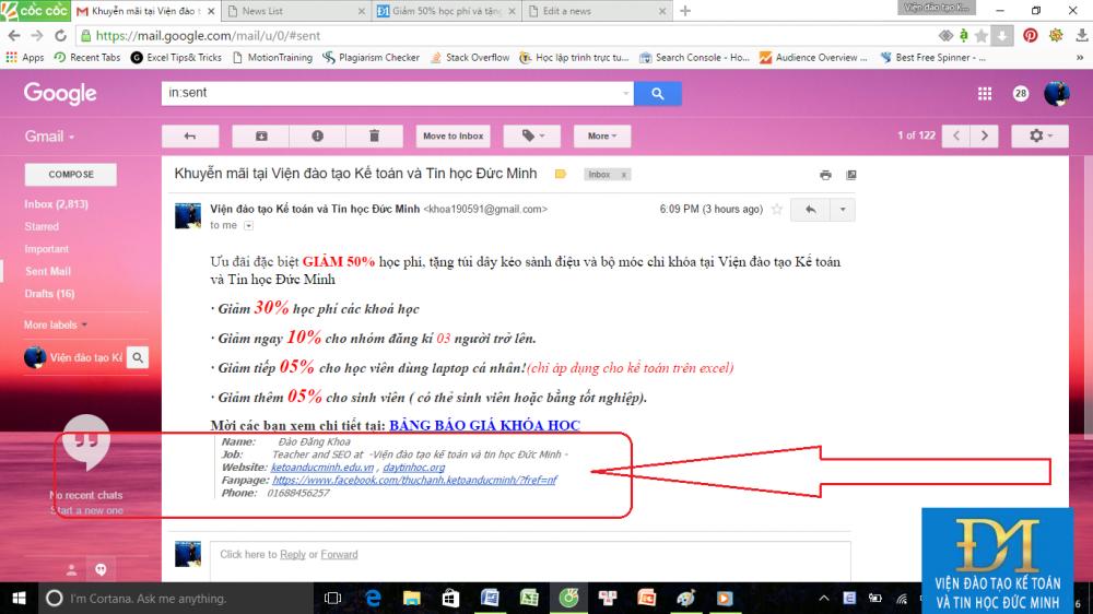 tạo chữ ký trong gmail đức minh 1