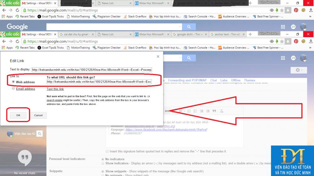 tạo chữ ký trong gmail đức minh 5