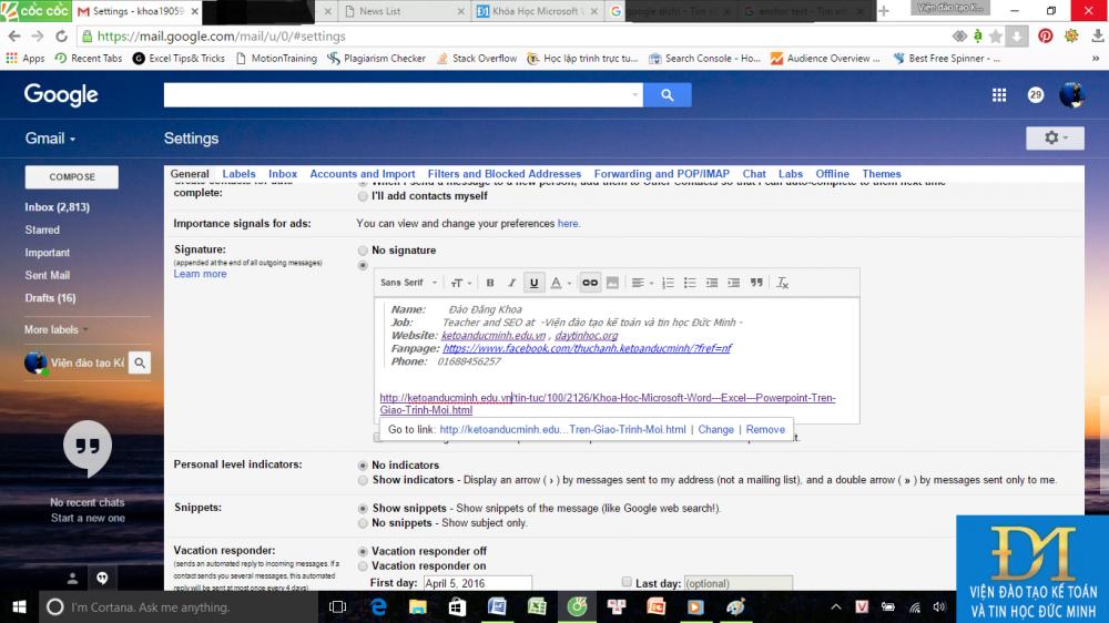 tạo chữ ký trong gmail đức minh 6