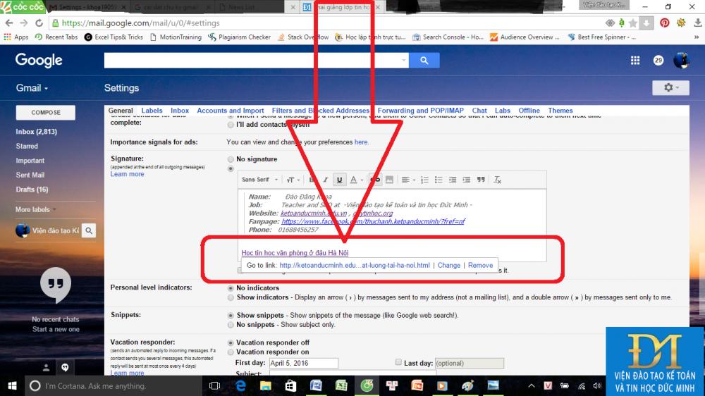tạo chữ ký trong gmail đức minh 8