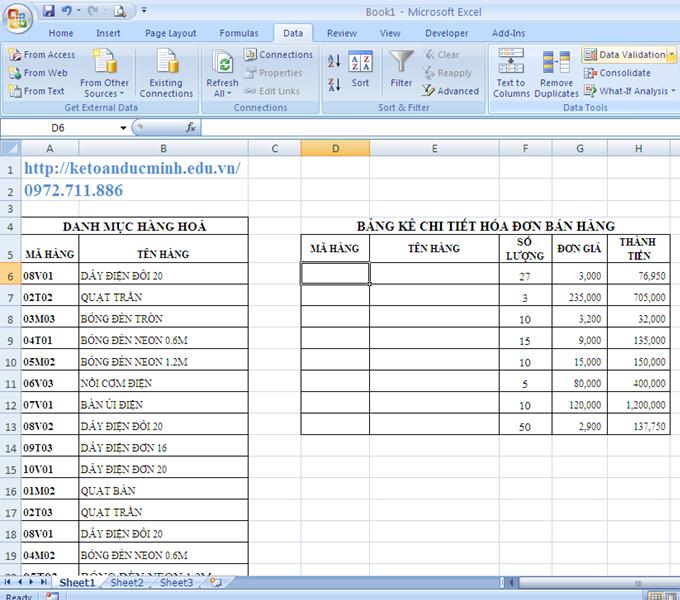 Cách tạo danh sách xổ xuống trong Excel 1