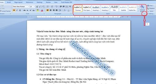 cách tạo mục lục tự đông trong word 2007 - tin học đức minh 1