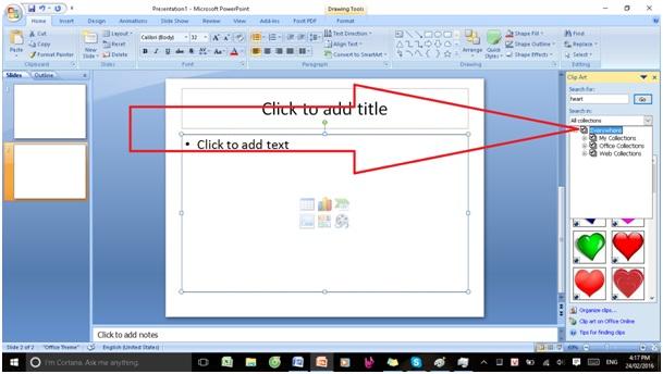 Chèn ảnh và clip art trong powerpoint6