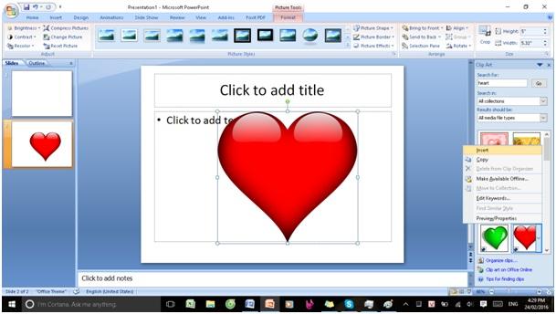 chèn ảnh và clip art trong powerpoint8