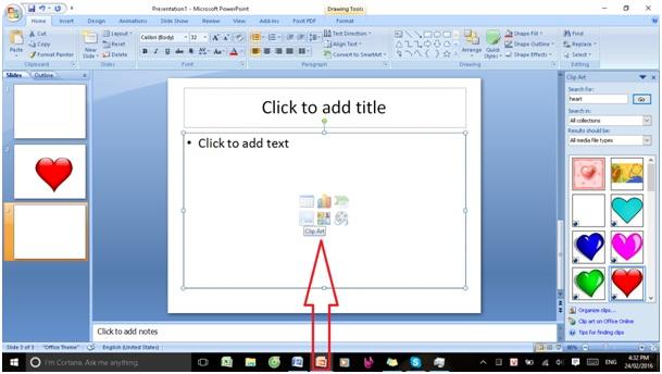 chèn ảnh và clip art trong powerpoint9