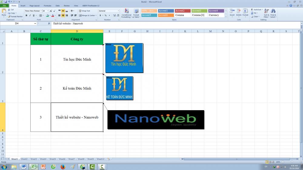 Cách chèn ảnh vào trong một ô comment (bình luận) trong Excel