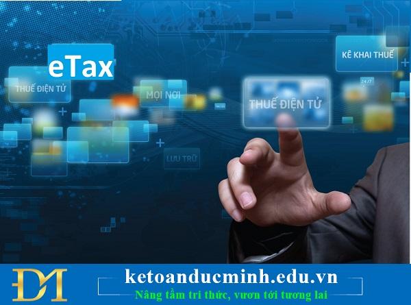 giao dịch thuế điện tử