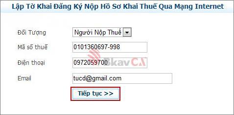 Truy cập vào trang tổng cục thuế nhantokhai.gdt.gov.vn  nhấn vào phần ĐĂNG KÝ