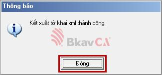 hoàn tất quá trình tạo tờ khai từ phần mềm HTKK