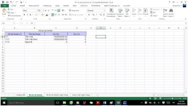 Khởi tạo dữ liệu phần mềm kế toán misa5