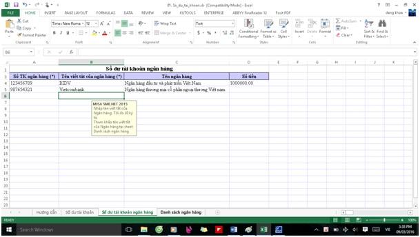 Khởi tạo dữ liệu trong phần mềm kế toán Misa6