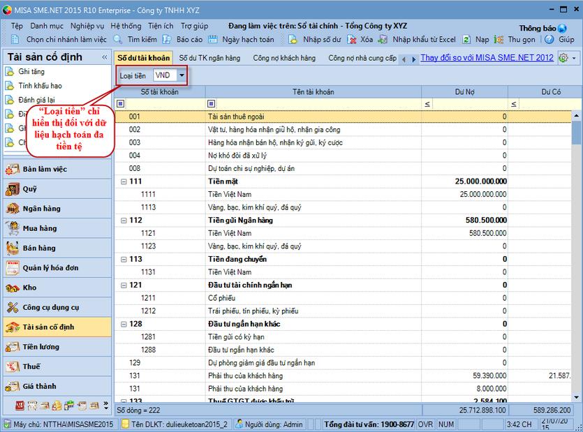Quy trình nhập dữ liệu ban đầu trên phần mềm kế toán MISA SME.NET 2015 22