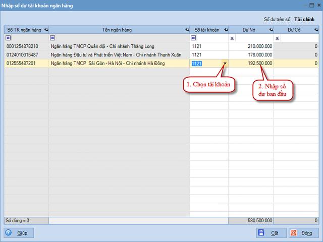 Quy trình nhập dữ liệu ban đầu trên phần mềm kế toán MISA SME.NET 2015 24