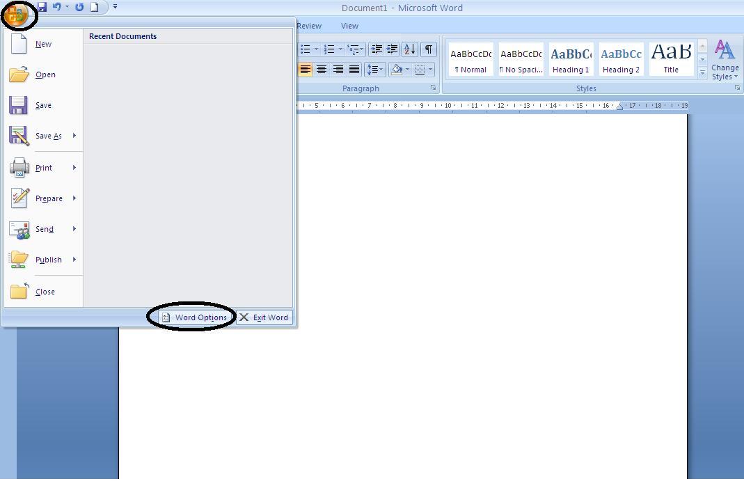 Chuyển đổi đơn vị trong word 2007