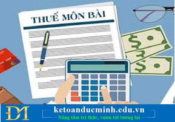 10 trường hợp miễn lệ phí môn bài năm 2020 – Kế toán Đức Minh.