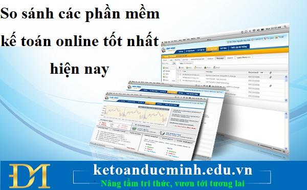 So sánh các phần mềm kế toán online tốt nhất hiện nay – KTĐM