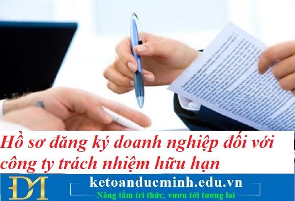 Hồ sơ đăng ký doanh nghiệp đối với công ty trách nhiệm hữu hạn – Kế toán Đức Minh.
