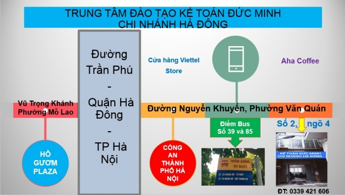 ĐỊA CHỈ LỚP DẠY KẾ TOÁN THỰC HÀNH ở đâu tốt nhất tại Hà Nội - Đức Minh Hà Đông