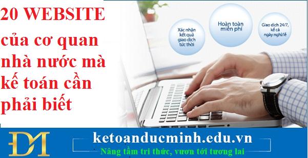 20 WEBSITE của cơ quan nhà nước mà kế toán cần phải biết – Kế toán Đức Minh