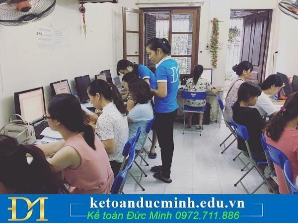 Quy trình học kế toán doanh nghiệp tại Đức Minh