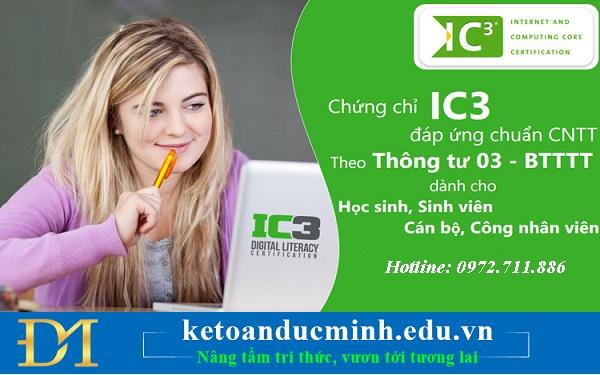Luyện thi và cấp chứng chỉ tin học đạt chuẩn quốc tế IC3