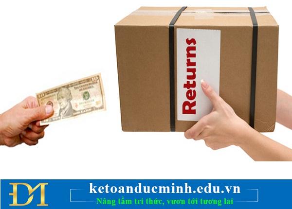 Hướng dẫn chi tiết kê khai thuế hóa đơn hàng bán bị trả lại – Kế toán Đức Minh.