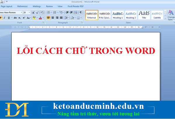 Cách sửa lỗi cách chữ trong Word rất đơn giản - Kế toán Đức Minh.