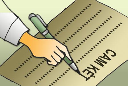 Bản cam kết cho cá nhân chưa đến mức nộp thuế TNCN năm 2015