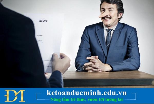 5 điều ứng viên không nên nói dối nhà tuyển dụng